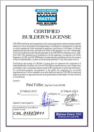 Certified Builder's Licensing Program